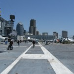 Historic planes on the deck of the Midway.