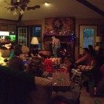 Christmas morning with the Stephensons.