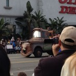 Mater entertaining the crowd at the Rose Parade.